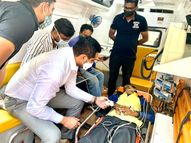 પાલનપુરમાં એમ્બયુલન્સમાં જ માં કાર્ડ કાઢી હાર્ટ એકેટના દર્દીનો નિ:શુલ્ક ઇલાજ|પાલનપુર,Palanpur - Gujarati News