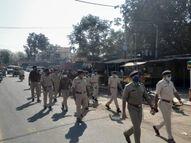 કઠલાલમાં કોરોનાના સંક્રમણના પગલે પોલીસનું ફુટ પેટ્રોલીંગ|કઠલાલ,Kathlal - Gujarati News