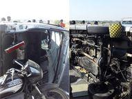 મોરબી જતા જાનૈયાઓને હળવદ નજીક અકસ્માત નડ્યો, 8ને ઇજા પહોંચી|મોરબી,Morbi - Gujarati News