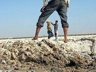કચ્છના નાના રણના અગરિયાઓનાં સંવેદનહીન થયેલાં શરીરને મૃત્યુ પછી અગ્નિદાહ બાદ દાટવા પડે છે!|પાટડી,Patdi - Gujarati News