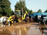 રાજકોટમાં મોચી બજાર વિસ્તારમાં પીવાના પાણી વિતરણની મુખ્ય લાઈનમાં ભંગાણ, જ્યુબેલી પમ્પીંગ સ્ટેશન હેઠળના 3થી 4 વોર્ડમાં 7 કલાક સુધી પાણી વિતરણ ઠપ્પ|રાજકોટ,Rajkot - Gujarati News