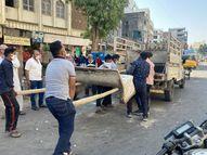ન્યાયમંદિરથી માર્કેટ સુધીના બાંકડા દબાણશાખાના 'સ્ટ્રેચર પર'|વડોદરા,Vadodara - Gujarati News