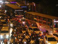 રસ્તાના કામને કારણે મોટા વરાછા-ઉત્રાણ રોડ પર આખો દિવસ ટ્રાફિક, લોકો અકળાયા|સુરત,Surat - Gujarati News