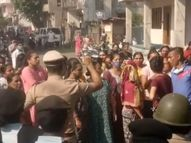સુરતના પાલ-ઉમરા બ્રિજમાં નડતર રૂપ મકાનનું ડિમોલેશન થતાં અસરગ્રસ્તોએ વિરોધ કરતાં પોલીસ કાફલો ગોઠવાયો|સુરત,Surat - Gujarati News