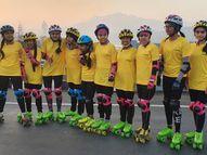 10 યુવતી સ્કેટિંગ કરી SOUથી બારડોલી આવશે|બારડોલી,Bardoli - Divya Bhaskar