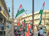 નવસારીના માર્ગો પર દેખાયો પ્રજાસત્તાક દિનની ઉજવણીનો ઉન્માદ, સર્વત્ર ત્રિરંગો લહેરાય છે|નવસારી,Navsari - Divya Bhaskar