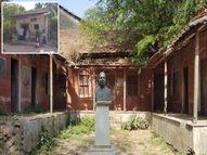 ગાંધીજીના હનુમાન ગણાતા મહાદેવ દેસાઇના બલિદાનને સરકાર વીસરી, દિહેણમાં તેમનું નિવાસ સ્થાન જર્જરિત, પ્રતિમા ધૂળ ખાતી|ઓલપાડ,Olpad - Divya Bhaskar
