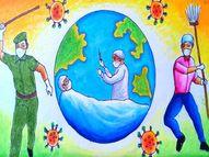 કોરોનામાં સઘન કામગીરી બદલ આરોગ્યના 12 કર્મીનું સન્માન થશે|ગાંધીનગર,Gandhinagar - Divya Bhaskar