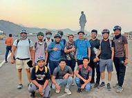ભરૂચના 13 યુવાનો 118 કિમી સાઇકલ ચલાવી માત્ર 8 કલાકમાં જ સ્ટેચ્યુ ઓફ યુનિટી પહોંચ્યા|ભરૂચ,Bharuch - Divya Bhaskar