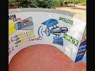 શિક્ષક નહિ, સથરાની શાળાની દિવાલો વિદ્યાર્થીઓને ભણાવશે|ભાવનગર,Bhavnagar - Divya Bhaskar