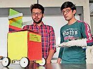 જ્ઞાનમંજરીના ભાવિ ઇજનેરો દ્વારા વિકલાંગો માટે સ્માર્ટ ઈલેક્ટ્રીક વ્હિલચેરનો આવિષ્કાર|ભાવનગર,Bhavnagar - Divya Bhaskar