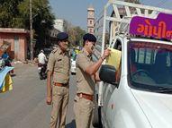 પોલીસે વાહનચાલકોને પત્રિકા વહેંચી ટ્રાફિકના નિયમો અંગે જાગ્રત કર્યા|સુરેન્દ્રનગર,Surendranagar - Divya Bhaskar