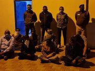 પાલરા પાસે જુગારધામમાં પોલીસ પુત્ર સહિત 8 ખેલી જબ્બે|ભુજ,Bhuj - Divya Bhaskar