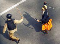 તલવાર તાણી પોલીસ સામે દોડ્યો નિહંગ, જુઓ કેવી રીતે પોલીસને ભારે પડ્યા પ્રદર્શનકારી|ઈન્ડિયા,National - Divya Bhaskar