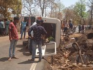 ડાંગના વિહીરઆંબા પાસે જીપ પલટી જતા 10ને ઇજા|આહવા,Ahwa - Divya Bhaskar