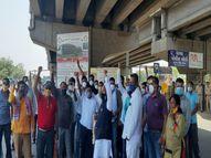 રાકેશ ટીકૈતનું સ્વાગત કરવા માટે આવેલા કાર્યકરો ધાવટ ચોકડીથી વિલા મોઢે પરત ફર્યા|છોટા ઉદેપુર,Chhota Udaipur - Divya Bhaskar