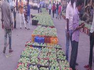 નવસારી માર્કેટમાંકેસર-આફૂસ કેરીની એન્ટ્રી, 806 મણ આવક|નવસારી,Navsari - Divya Bhaskar