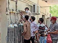 મહેસાણામાં કોરોનાના દર્દીઓ વધતાં ઓક્સિજન સિલિન્ડરનો વપરાશ 100 થી સીધો 700એ પહોંચ્યો|મહેસાણા,Mehsana - Divya Bhaskar