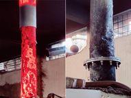 સ્મશાનોની ચીમની ગરમીથી પીગળી ગઈ; ત્રણેય સ્મશાનગૃહમાં અંતિમવિધિ માટે લાઇનો લાગતાં ચિતાની ગ્રિલ પણ ઓગળી|સુરત,Surat - Divya Bhaskar