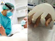 બ્રાઝિલની નર્સે કોરોના દર્દીઓને માનવ સ્પર્શ આપવાની અનોખી રીત શોધી કાઢી, સોશિયલ મીડિયા પર તસવીર વાઈરલ થઈ|લાઇફસ્ટાઇલ,Lifestyle - Divya Bhaskar