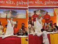કુંભમેળાના ડાયરામાં કીર્તિદાન અને ગીતા રબારી પર રૂપિયાનો વરસાદ, કનિરામ બાપુ ઝૂમી ઉઠ્યા ઈન્ડિયા,National - Divya Bhaskar