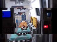 ઓક્સિજનવાળા બેડ ન મળતા બે દર્દીની 2 કલાક 108માં સારવાર|મોરબી,Morbi - Divya Bhaskar