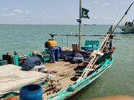 કચ્છની દરિયાઈ સીમાથી આઠ પાકિસ્તાની રૂ 150 કરોડની કિંમતના 30 કિલો હેરોઇન સાથે ઝડપાયા|ભુજ,Bhuj - Divya Bhaskar