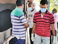 હિંમતનગર સિવિલમાં 24 કલાક કોરોના દર્દીઓને સેવા પૂરી પાડતા રાકેશ ભાટિયા|હિંમતનગર,Himatnagar - Divya Bhaskar