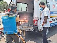 પાટણમાં કોરોના દર્દીઓને હોસ્પિટલ પહોંચાડવા 13 જેટલી 108 દોડાવાઈ પાટણ,Patan - Divya Bhaskar