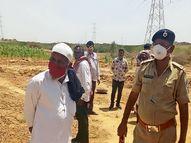 સૈયદપરમાં ગ્રામપંચાયતે પોલીસ બંદોબસ્ત સાથે 9 એકર ગૌચર જમીન દબાણ મુક્ત કરી|ભુજ,Bhuj - Divya Bhaskar