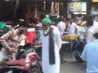 સુરતની માર્કેટમાં બેદરકાર લોકોના ટોળા, વગર માસ્ક અને સોશિયલ ડિસ્ટન્સ ન જાળવી નિયમોના ભંગ કરતાં દેખાયા|સુરત,Surat - Divya Bhaskar