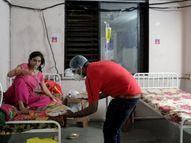 સુરતના અલથાણમાં આઈસોલેશન સેન્ટરમાં દીકરીનો જન્મદિવસ ઉજવાયો, 200 કોરોનાગ્રસ્તોને ઢોસા ખવડાવાયા|સુરત,Surat - Divya Bhaskar
