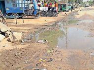 પાલનપુરના ખોડિયારનગર વિસ્તારમાં ગટરના પાણી રેલાતાં રહીશોને હાલાકી|પાલનપુર,Palanpur - Divya Bhaskar
