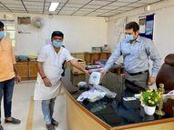 65 હજારનું એક વેન્ટીલેટરનું દાન બે દિવસમાં બીજાં 9 મશીન અપાશે|મહેસાણા,Mehsana - Divya Bhaskar