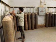 અમદાવાદમાં ઔદ્યોગિક એકમોમાં વપરાતા ઓક્સિજન પર કામચલાઉ ધોરણે પ્રતિબંધ, 1500 સિલિન્ડર મેડિકલ વપરાશ માટે અપાયા અમદાવાદ,Ahmedabad - Divya Bhaskar