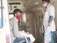 3 દિવસની કોરોનાગ્રસ્ત દીકરીને જેતપુરથી ખોળામાં રાખી સર્જરી માટે અમદાવાદ સિવિલ લાવ્યા; ઓક્સિજન ઓછો મળતાં વેન્ટિલેટર પર રાખી અમદાવાદ,Ahmedabad - Divya Bhaskar