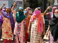 વડોદરાના બાવામાનપુરા ખાતે પીવાના પાણીની સમસ્યાથી સ્થાનિકો ત્રસ્ત, મહિલાઓએ સૂત્રોચ્ચારો સાથે સમસ્યાના કાયમી નિકાલની માગ કરી|વડોદરા,Vadodara - Divya Bhaskar