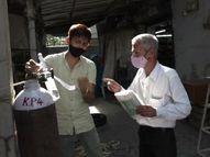 નવસારીમાં ઓક્સિજનની અછત વચ્ચે સામાજિક સંસ્થાઓએ નિઃશુલ્ક ઓક્સિજન આપવાની શરૂઆત કરી નવસારી,Navsari - Divya Bhaskar