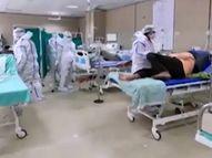 હોસ્પિટલ ફુલ થતા રાજકોટીયન્સ દર્દીને જૂનાગઢ, જામનગર અને કચ્છમાં સારવાર માટે લઈ જઈ રહ્યાં છે|રાજકોટ,Rajkot - Divya Bhaskar