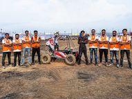19 વિદ્યાર્થીએ 11 મહિનામાં કાર તૈયાર કરીને રેસમાં ભાગ લીધો, 3 કલાક કાર ચલાવી રાજ્યમાં બીજા નંબરે આવ્યા|વડોદરા,Vadodara - Divya Bhaskar