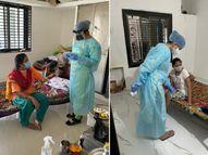 વિરપુરમાં મફત હોમ કોવિડ કેર સેવા શરૂ કરાઇ, પ્રથમ દિવસે 47 જેટલા કોરોના દર્દીઓનું ચેકઅપ કર્યુ વીરપુર,Virpur - Divya Bhaskar