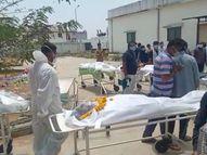 હિંમતનગર સિવિલમાં મૃતદેહ લેવા સ્વજનોની કતારો|હિંમતનગર,Himatnagar - Divya Bhaskar