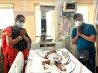 મુંબઈની હોસ્પિટલમાં 4 મહિનાના ધૈર્યરાજને 16 કરોડનું ઈન્જેક્શન અપાયું, બાળકનો જીવ બચાવવા બદલ પરિવારે તમામ લોકોનો આભાર માન્યો લુણાવાડા,Lunavada - Divya Bhaskar