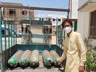 કોરોનામાં નાનાભાઈનું મોત થતાં મોટાભાઈએ 50 ઓક્સિજનની બોટલ આપવાનું શરૂ કર્યું|પાલનપુર,Palanpur - Divya Bhaskar