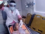 જિલ્લાની 108 એમ્બ્યુલન્સમાં 15 દિવસમાં કોરોનાના 400 દર્દીને જીવ બચાવવા 78,300 લીટર ઓક્સિજન અપાયો|પાલનપુર,Palanpur - Divya Bhaskar