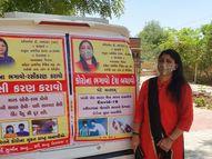 લાડુલા પ્રા. શાળાનાં આચાર્યા કોરોના જાગૃતિ માટે 4 દિવસમાં 53 ગામ ફર્યાં|પાલનપુર,Palanpur - Divya Bhaskar