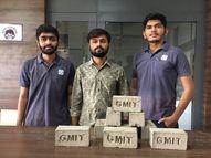 ભાવિ ઇજનેરોએ ઘન કચરાનો ઉપયોગ કરીને ઈકો ફ્રેન્ડલી ઈંટનું નિર્માણ કર્યું|ભાવનગર,Bhavnagar - Divya Bhaskar