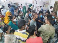 નડિયાદમાં રસી માટે માત્ર 60ને જ ટોકન આપતા લોકો વિફર્યા, બીજા ડોઝનું શું? નડિયાદ,Nadiad - Divya Bhaskar