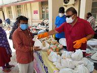 ગાંધી હોસ્પિટલમાં દાખલ દર્દીના 80થી વધુ સગાંને જમાડતું મંડળ|સુરેન્દ્રનગર,Surendranagar - Divya Bhaskar