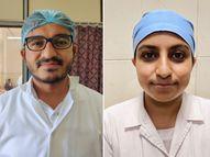 સિવિલ હોસ્પિટલમાં કોવિડ દર્દીઓની ખડેપગે સેવા કરનાર ભાઇ-બહેન દાદીના મૃત્યુના 24 કલાકમાં ફરજ પર હાજર|નવસારી,Navsari - Divya Bhaskar